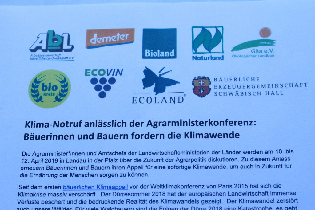 Klima-Notruf der Bio-Verbände